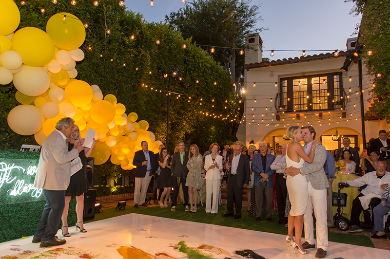 private estate engagement party in LA