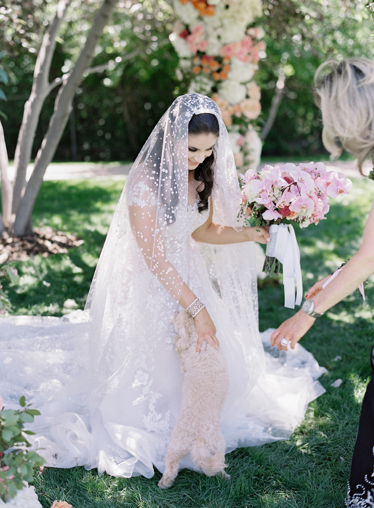 at-home-wedding-bride-with-dog